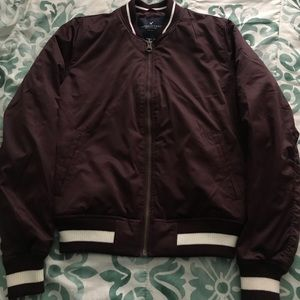 Maroon American Eagles Bomber Jacket